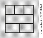 vector frames photo collage for ... | Shutterstock .eps vector #777950464