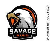 savage bird. eagle sports logo. | Shutterstock .eps vector #777954124