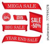 mega hot sale retail spesial... | Shutterstock .eps vector #777959278