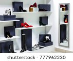 bright large shoe store with... | Shutterstock . vector #777962230