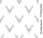 seamless winter mosaic pattern... | Shutterstock .eps vector #777962263