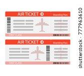 air ticket icon. modern ticket...   Shutterstock .eps vector #777963610