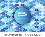 abstract background with... | Shutterstock .eps vector #777964270