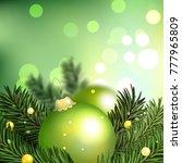 background. fir tree on blurred ... | Shutterstock . vector #777965809