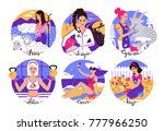 collection of zodiac signs... | Shutterstock .eps vector #777966250