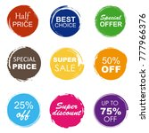 colorful sale tags in grunge... | Shutterstock .eps vector #777966376