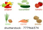 set of different vegetables... | Shutterstock .eps vector #777966574