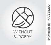 stop sign surgeon. icon drawing ...   Shutterstock .eps vector #777968200