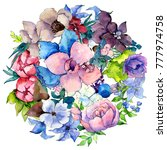 flower composition in a... | Shutterstock . vector #777974758