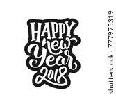 sticker design with typography... | Shutterstock . vector #777975319