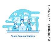 concept of team communication ... | Shutterstock .eps vector #777975343