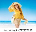 perfect summer. portrait of... | Shutterstock . vector #777978298