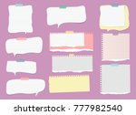 white  colorful ripped lined... | Shutterstock .eps vector #777982540