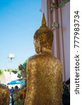 gold buddha in temple | Shutterstock . vector #777983734