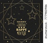 christmas and new year. | Shutterstock .eps vector #777983986