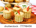cakes with pepper - stock photo