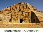 petra  jordan  middle east | Shutterstock . vector #777986944