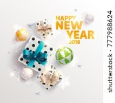 happy new year greeting card... | Shutterstock .eps vector #777988624
