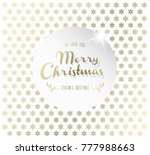 christmas background with... | Shutterstock .eps vector #777988663