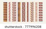 set of ethnic art brushes in...   Shutterstock .eps vector #777996208
