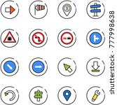 line vector icon set   right... | Shutterstock .eps vector #777998638