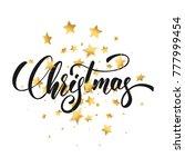 christmas. christmas script... | Shutterstock . vector #777999454