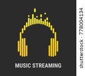 logo headphones. musical... | Shutterstock .eps vector #778004134