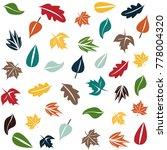 autumn forest pattern   Shutterstock .eps vector #778004320