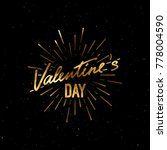 valentines day holiday label.... | Shutterstock .eps vector #778004590