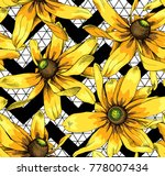 seamless floral pattern with... | Shutterstock .eps vector #778007434