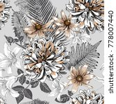 seamless floral pattern with... | Shutterstock .eps vector #778007440