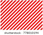 red and white diagonal lines | Shutterstock . vector #778010194