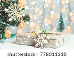 a christmas tree decorated... | Shutterstock . vector #778011310