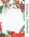 christmas wreath with... | Shutterstock . vector #778013110