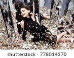 sexy pretty woman sit on the... | Shutterstock . vector #778014370