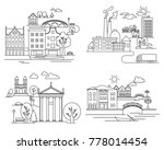 city landscapes line ... | Shutterstock . vector #778014454