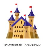 fairy medieval castle in... | Shutterstock . vector #778015420