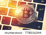 bitcoin cryptocurrency with... | Shutterstock . vector #778016344