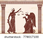 ancient greek goddess themis... | Shutterstock .eps vector #778017100