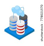 cloud storage isometric 3d icon.... | Shutterstock .eps vector #778021570