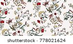 seamless floral pattern in... | Shutterstock .eps vector #778021624