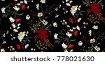 seamless floral pattern in... | Shutterstock .eps vector #778021630