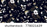 seamless floral pattern in... | Shutterstock .eps vector #778021639