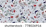 seamless floral pattern in... | Shutterstock .eps vector #778026916