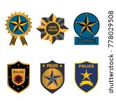 set of police law enforcement... | Shutterstock .eps vector #778029508
