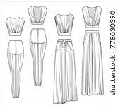 womenswear separates editable... | Shutterstock .eps vector #778030390