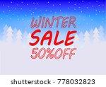 winter sale poster  flyer ...   Shutterstock .eps vector #778032823