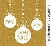 xmas sale   poster with hand... | Shutterstock .eps vector #778038949