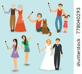 set of people photographed with ... | Shutterstock . vector #778040293