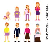 users generation at different... | Shutterstock . vector #778041838